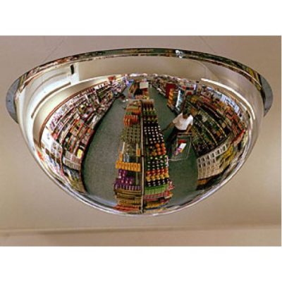 The Convex Acrylic Hemisphere Mirror provides a 360 view of an area.
